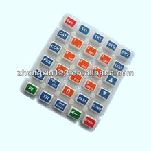 Silicone rubber numeric keypad/keyboard for calculator