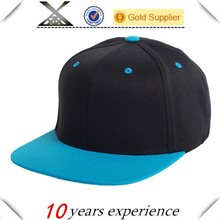 fashion Wool Two Tone custom logo blank Snapback Cap Wholesale