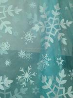 HOT NEW Frozen Elsa LARGE snowflake printed organza fabric