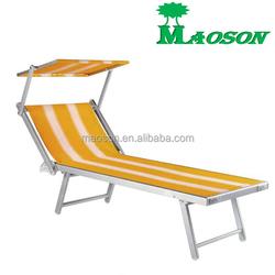 selling 2015 HOT new outdoor aluminium folding sun beach bed