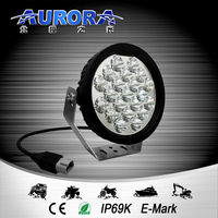 IP68 waterproof AURORA 5inch 90w round led driving light for truck