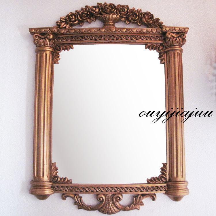 Large Rectangular Antique Vintage Decorative Bathroom Wall Mirror Frame Interior Decoration