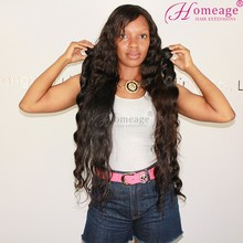 Homeage grade 7a virgin hair raw virgin unprocessed Peruvian human wavy/loose wave hair