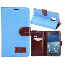 New product case for samsung note edge flip leather case wallet leather case