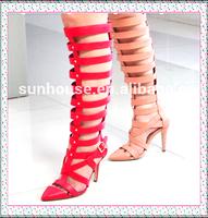 2015 New Design PU Women Dress Sandals Shoes