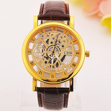 Top selling products 2015 Design skeleton Watch Special watches Men New Style Quartz man watch