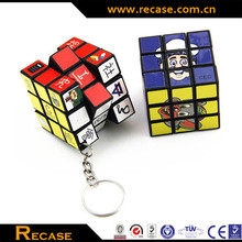 logo keychain magic cubes, magic cubes logo printing, Mini magic cubes keychain