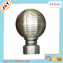 25/28mm round ball curtain rod finials best selling in Europe