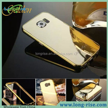 High Quality Aluminum Metal Bumper Case for Samsung Galaxy S6 Mirror Cover