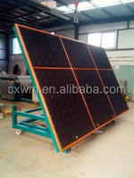 Manual glass cutting and breaking table with air float and tilting table