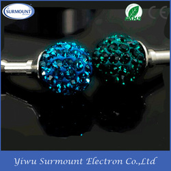 Bling Crystal 3.5MM Diamon Anti Dust Plug For Smart Cell Phone