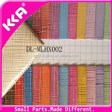 Stripe colorful pvc synthetic leather for bag