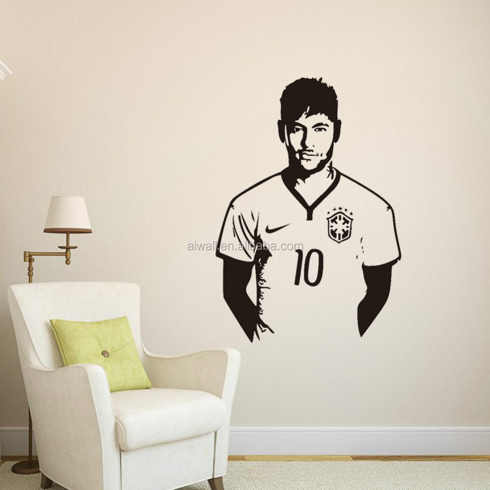9410 Art Wall Stickers Neymar Diy Home Decorations Wall Decals ...