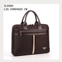 Designer brown full color leather man's bag with zipper , office use and daily use laptop bag for man 2015