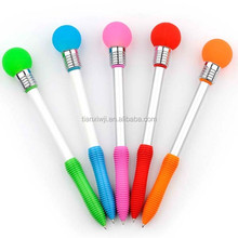 lovely Promotional knock flashing LED light pen /Students toy led pen