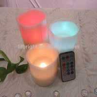 flamless led color changing candle remote control