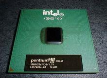 Procesador intel pentium iii 1.00 ghz, caché de 256k, 133 mhz fsb