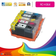 manufacturer Refillable cartridges H364 for HP Photosmart B8550/C6380/D5460/D7560/C309a with chip