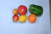 High quality Disposable Vegetables Clamshell Packaging , Vegetables Plastic Box, Plastic Vegetables Trays