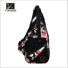 Cute stamp backpacks Chest Bag for women canvas waist pack