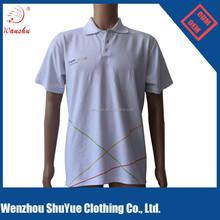 Personnalisé blanc coton peigné jersey polo t - shirt, 230 grama