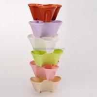 Stackable / Hangable Garden Planter / Flower Pot - Indoor / Outdoor - 3 grow pots