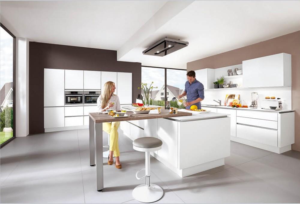 L vorm moderne ontwerp acryl mdf keukenkasten met lade manden ...