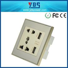 Eléctrico 2 pin y 3 pin socket con interruptor de pared 250 v 13a, tomacorrientes hotel lámpara de pared,