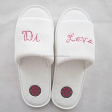 Toe ring white house slippers for wedding