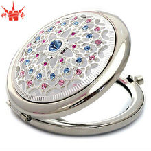Jewelly Metal Pocket Mirror Professional Make Up Mirror
