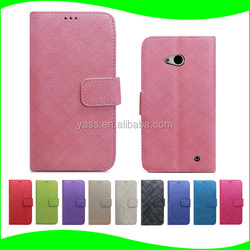 Standing Bling Diamond PU Leather Flip Cover Case for Nokia 640 with Card Holder