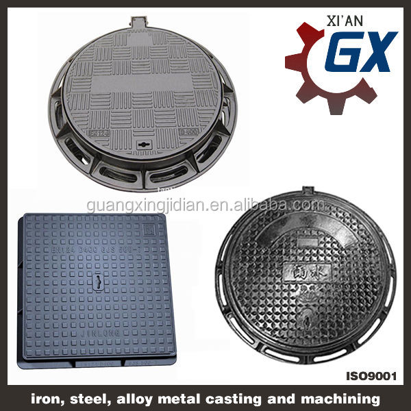 Buy sewer heavy duty ductile iron square and round manhole