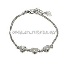 Healthy and non-toxic infant silver bracelet