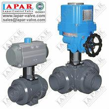 lpd11 de plástico de la válvula de bola motorizada actuador de la válvula
