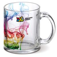 Creative color Transparent Glazen Sublimation glass mug beer mug