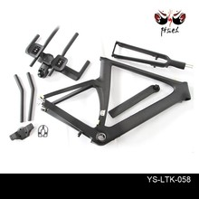 Aero style high mudulus monocoque construction Intergrated T700 carbon time trial bicycle frame sets for triathlon