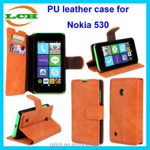 New arrival luxury design wallet matte flip leather case for Nokia Lumia 530