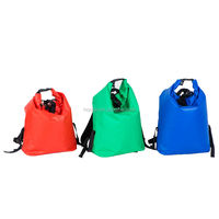 colorful waterproof dry bag with double shoulder straps