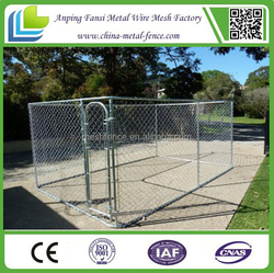 Galvanized wire chain link fence decorative dog crates kennels