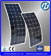 100W Monocrystalline Flexible Solar Panel for caravans golf cars boats with A grade sunpower solar cell