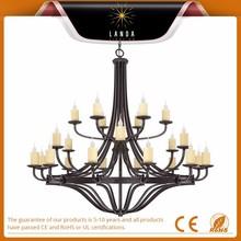 Oiled Copper 24 Light 3 Tier chandelier ceiling lamp