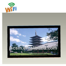 cheap 15/19/22/26/32/42/55 inch display ads with HD good resolution, optional wifi