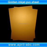 A4 inkjet golden printable pvc sheet