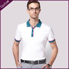 High quality long sleeve polo t shirt mens stripe banded collar cotton shirt Turndown Collar Shirts