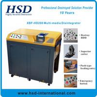 HSD-200 quick mobile hard drive/ipad/mobile shredding machine