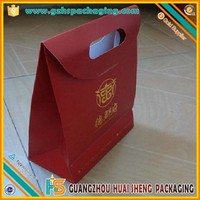 China supplier customized popular paper wine bottle carrying gift bag