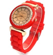 2015 new style crystall silicone women's watch