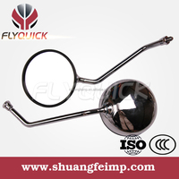 ZF001-44 FLYQUICK motorcycle side mirror chrome powder coating for Tiehan