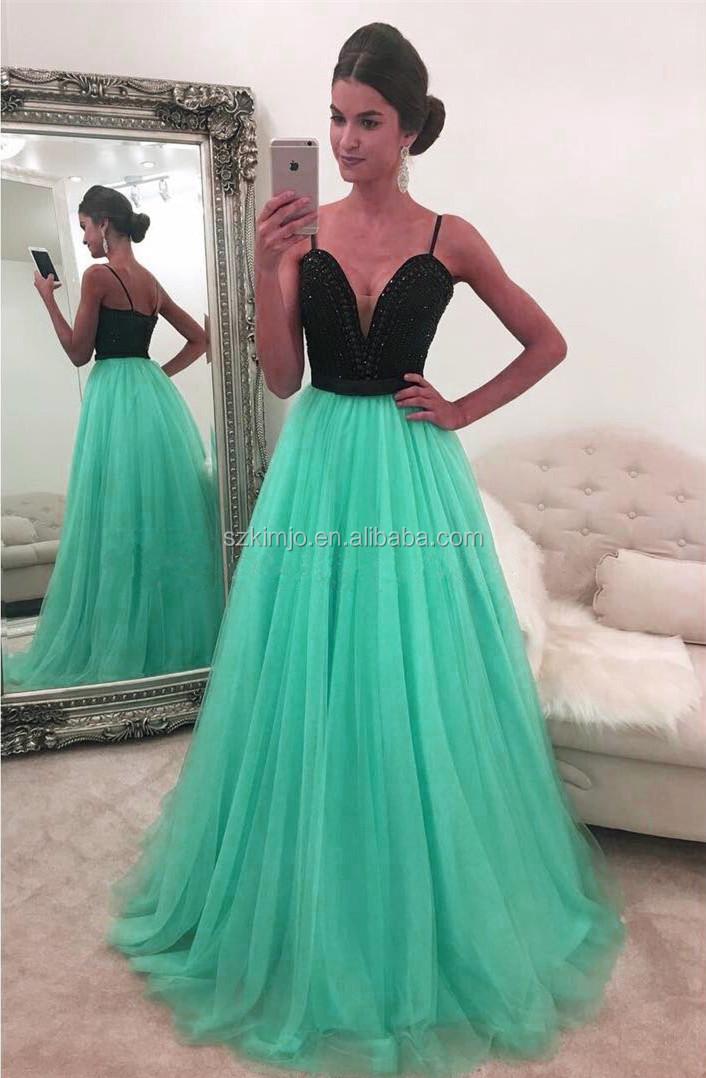 Imagenes de vestidos verde menta con negro