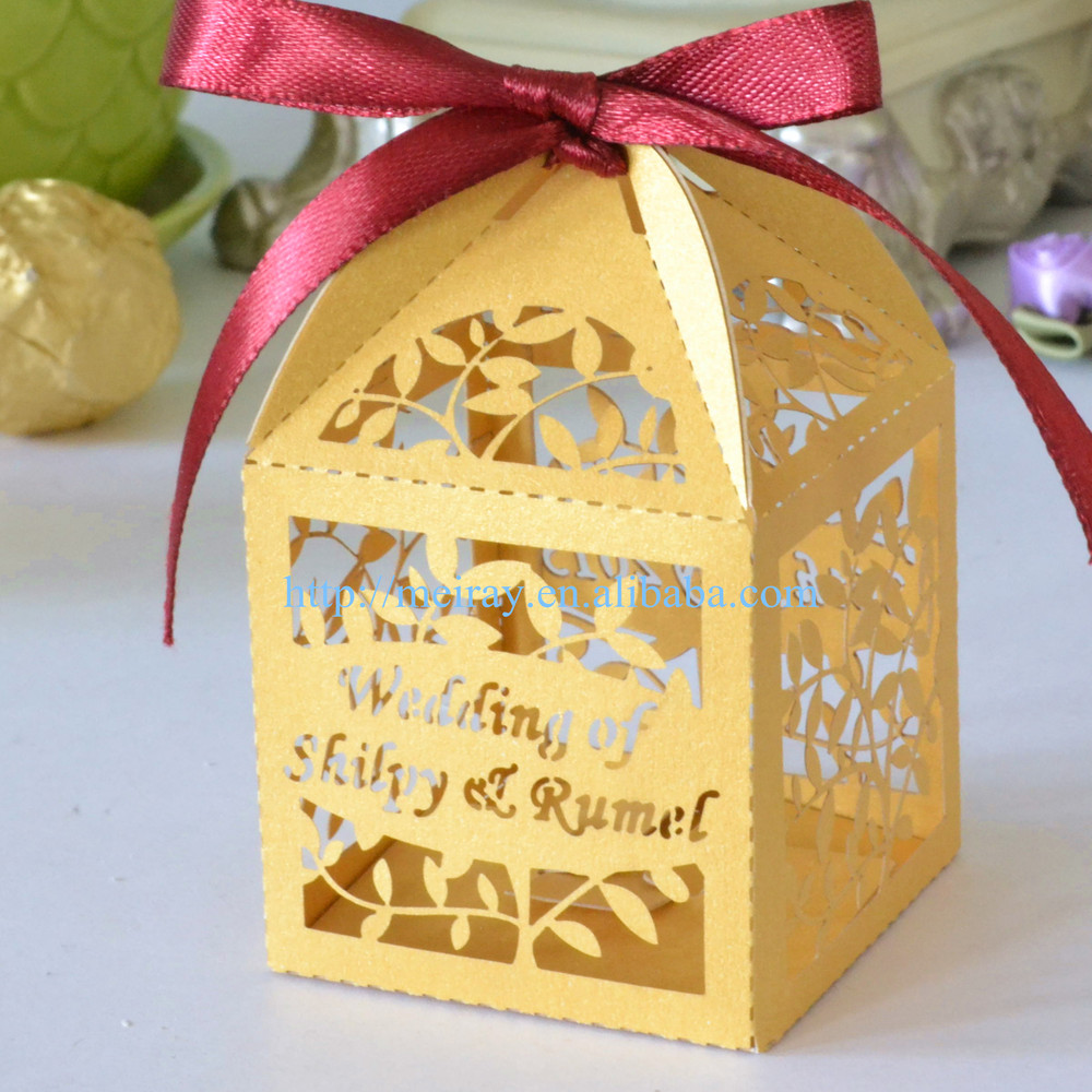Leaves Indian Wedding Favor BagsIndian Wedding Gifts For GuestsParty Supplies